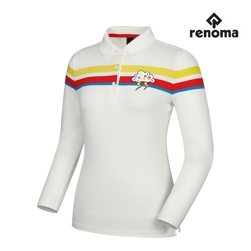 [레노마골프]여성 띠배색 포인트 카라 긴팔 티셔츠 RWTPG7102-100_G