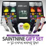 선물세트/세인트나인Q 3피스골프공+마루망양말