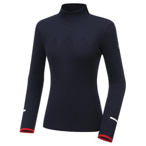 [와이드앵글] 여성 조직변형 반넥 긴팔 스웨터 L  WWU20K44N4