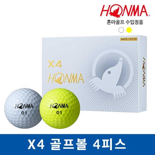 혼마 X4 골프볼 골프공 4피스 12알