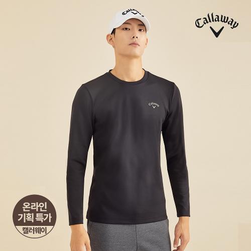 [캘러웨이]기획 남성 베이직 라운드 긴팔 티셔츠 CMTRJ3752-199_G