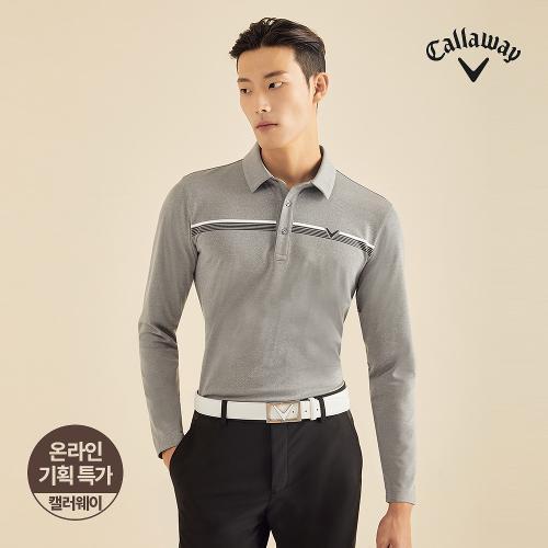 [캘러웨이]기획 남성 기모 원포인트 카라 티셔츠 CMTYJ3656-193_G