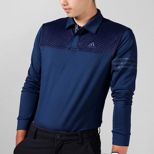[블랙골프데이앵콜]아디다스 모노그 폴로 남성 긴팔 티셔츠