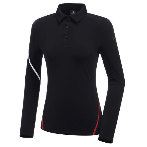 [와이드앵글] 여성 WL W.360 솔리드 카라 긴팔 티셔츠 L WWW20202Z1