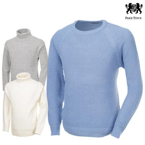 [파크타운 外] 추워지는 날씨에 딱~ 보온성 니트티셔츠 폴라/라운드/셔츠 4종 택일
