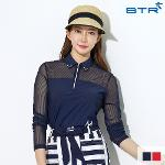 비티알 BTR 골프 여성 여름 메쉬 반팔 카라 티셔츠 글로리아 BRT4967W