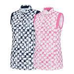 비티알 BTR 골프 여성 여름 패턴 민소매 카라 티셔츠 니콜(여) BRT4971W