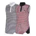 비티알 BTR 골프 여성 여름 패턴 민소매 반목 티셔츠 칼리(여) BRT4969W