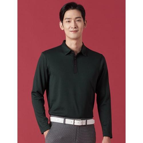 [빈폴골프] 남성 네이비 투톤 배색 칼라 티셔츠 (BJ0941B13R)