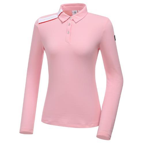 [와이드앵글] 여성 카라 긴팔 티셔츠 L WWW20241P1