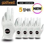 골프웰 남성 천연 양피 골프장갑 5장 1세트(GW-GV01)