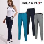 홀릭앤플레이 여성 뒷밴딩 슬림 골프바지 (HA2WPT012)
