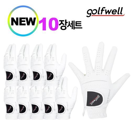 골프웰 남성 극세사원단 골프장갑 10장 1세트 GW-GV02