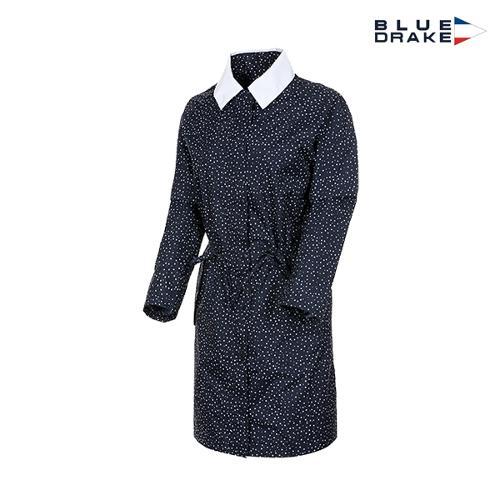 블루 드레이크 여성 도트 후드 사파리비옷(DL4HARJ01)