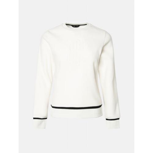 [빈폴골프] [NDL라인] 여성 아이보리 로고 플리스 스웨트 셔츠