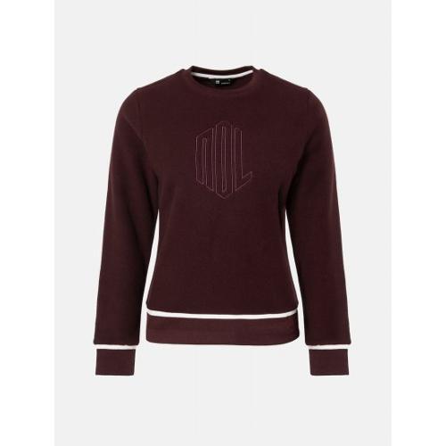 [빈폴골프] [NDL라인] 여성 와인 로고 플리스 스웨트 셔츠
