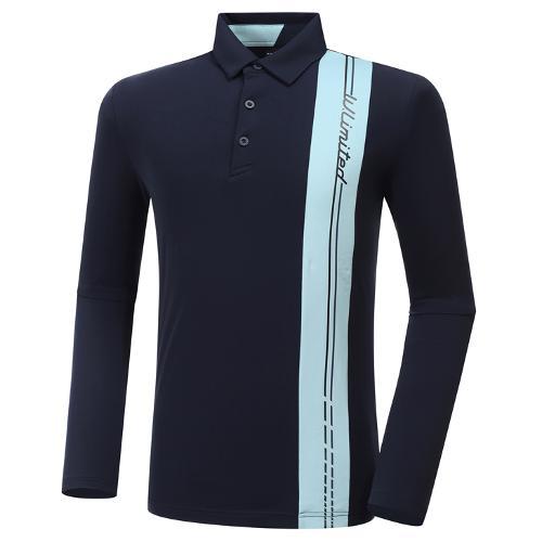[와이드앵글] 남성 HSS 버티컬라인 긴팔 티셔츠 M WMU20215N4