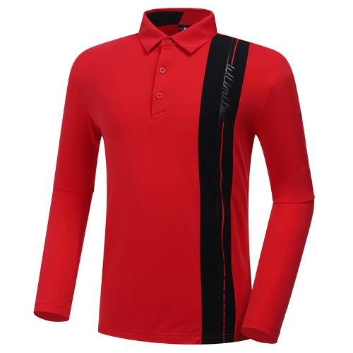 [와이드앵글] 남성 HSS 버티컬라인 긴팔 티셔츠 M WMU20215R2