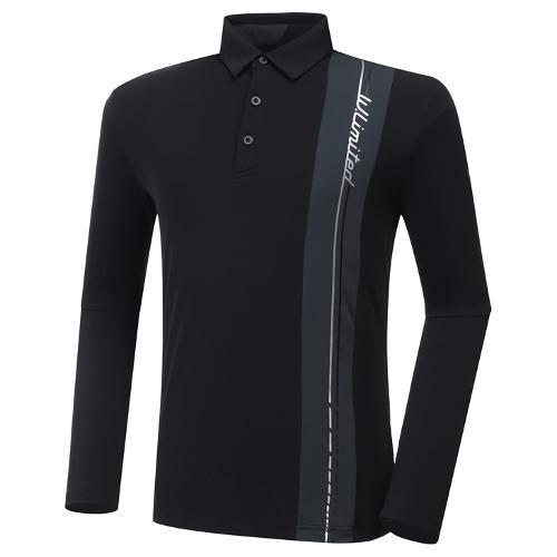 [와이드앵글] 남성 HSS 버티컬라인 긴팔 티셔츠 M WMU20215Z1