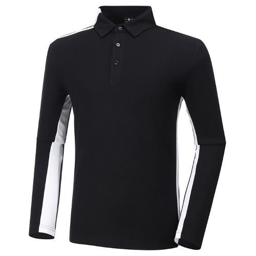[와이드앵글] 남성 기모 카라 긴팔 티셔츠 M WMW20242Z1