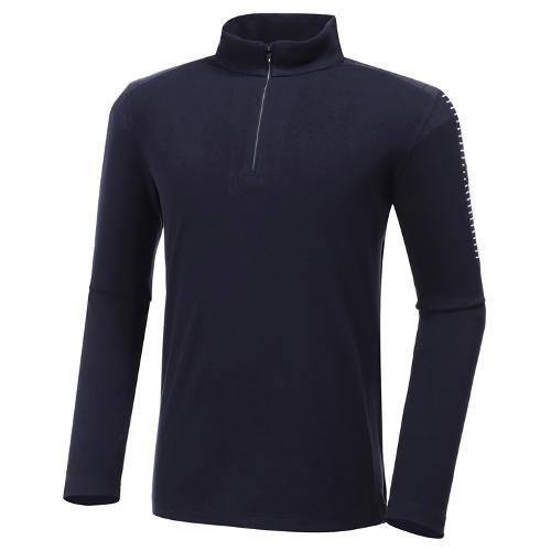 [와이드앵글] 남성 플리스 반짚 긴팔 티셔츠 M WMW20245N4