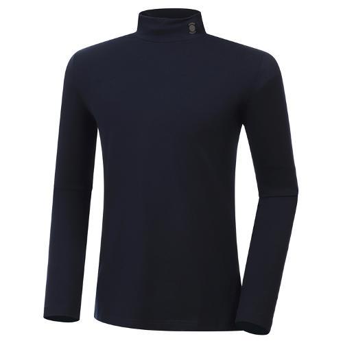 [와이드앵글] 남성 기모 반넥 긴팔 티셔츠 M WMW20294N4