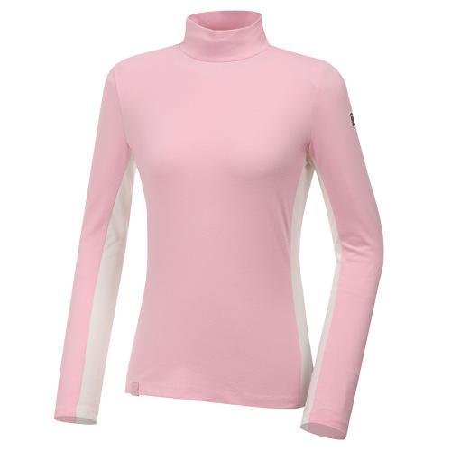 [와이드앵글] 여성 기모 하이넥 긴팔 티셔츠 L WWW20292P1