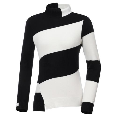 [와이드앵글] 여성 비대칭 스트라이프 긴팔 스웨터 L WWW20K44Z1
