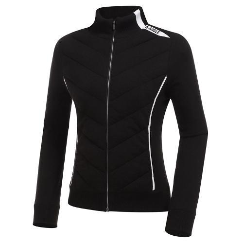[와이드앵글] 여성 패딩 하이브리드 풀짚업 긴팔 스웨터 L WWW20K46Z1