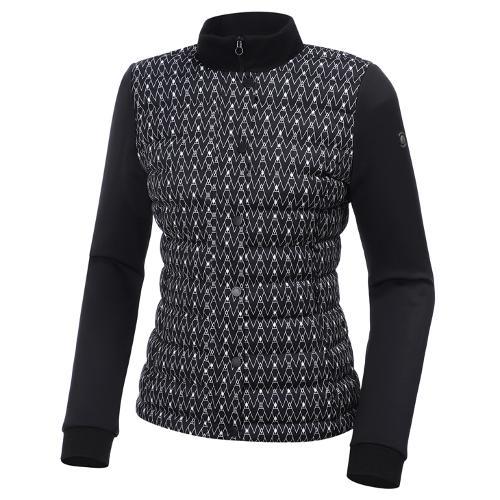 [와이드앵글] 여성 컨피던스 와가일 패턴 하이브리드 패딩 자켓 L WWW20145Z1