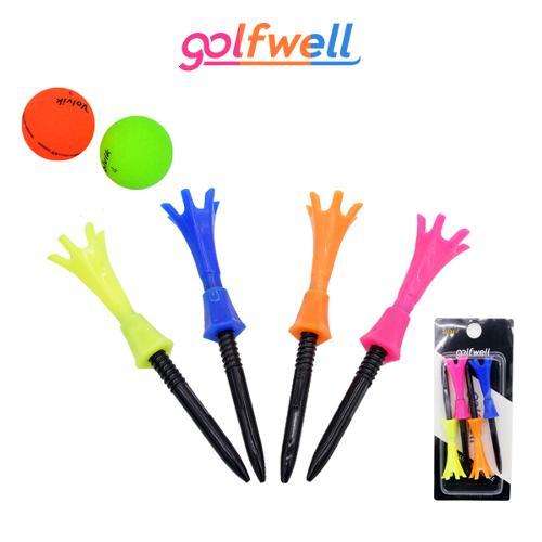 골프웰 높이조절 가능 골프티 4종 1세트 (GW053-GT74)