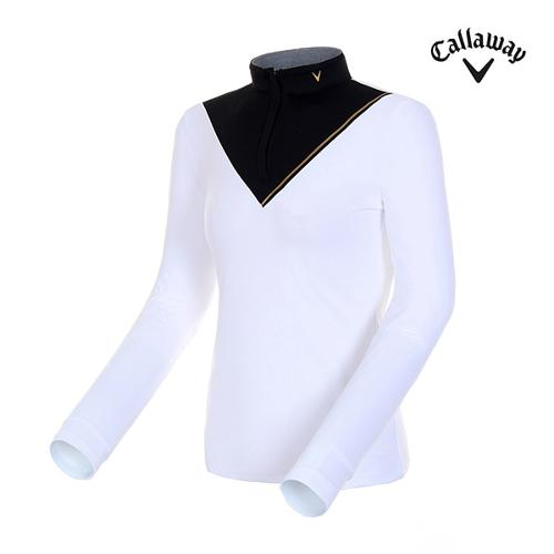 [캘러웨이]여성 콘트라스트 컬러 블록 티셔츠 CWTHH7155-100_G