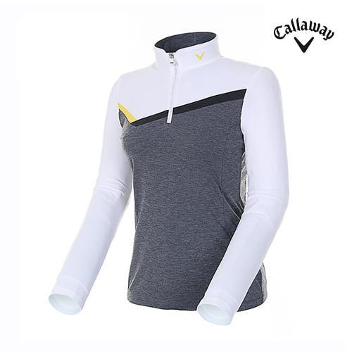 [캘러웨이]여성 컬러 블록 스포티 티셔츠 CWTHH7101-100_G