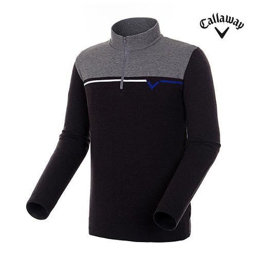 [캘러웨이]남성 컬러 로고 반집업 스웨터 CMSHH3251-193_G
