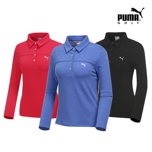 [푸마골프] 여성 퀼팅 카라넥 티셔츠 3종 택1_GA