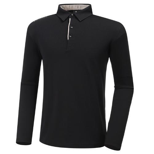 [와이드앵글] 남성 기모 피케 긴팔 티셔츠 M WMW20292Z1