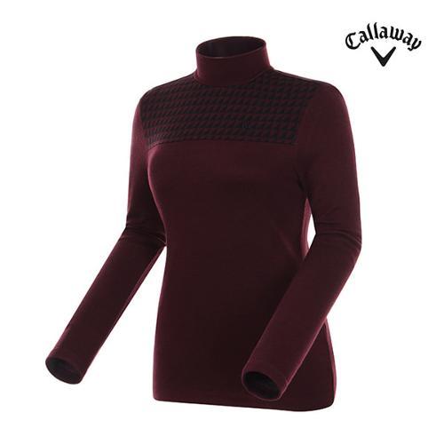 [캘러웨이]여성 옵티컬 하이넥 폴라 긴팔 티셔츠 CWTHG8171-420_G