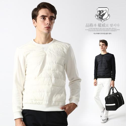 마스터베어 남성 겨울 덕다운 패딩 라운드 긴팔 티셔츠 W1040