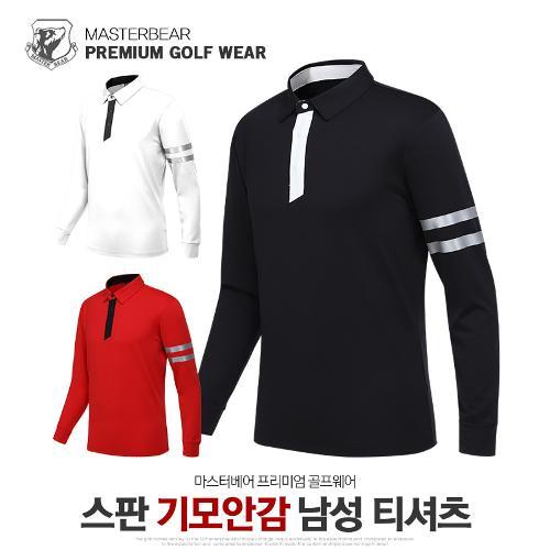 마스터베어 남성 겨울 스판 기모안감 카라 긴팔 티셔츠 MB915T