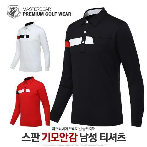 마스터베어 남성 겨울 스판 기모안감 카라 긴팔 티셔츠 MB914T