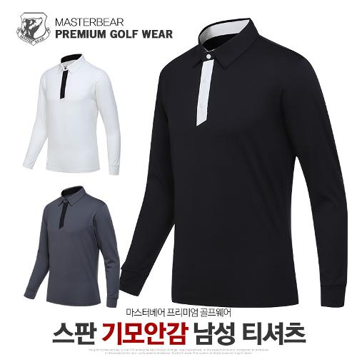 마스터베어 남성 겨울 스판 기모안감 카라 긴팔 티셔츠 MB913T