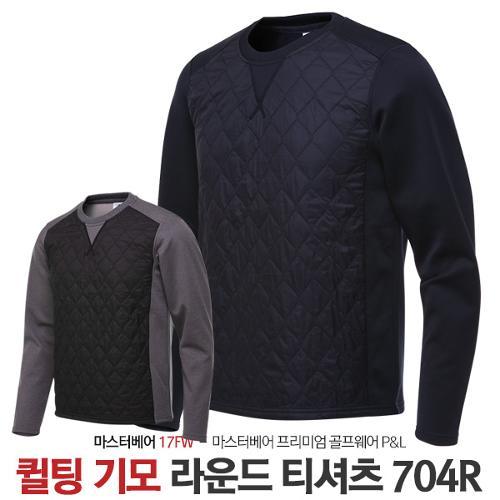 마스터베어 남성 겨울 퀼팅 기모안감 라운드 긴팔 티셔츠 MB704R