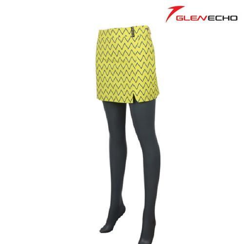 그렌에코 GLENECHO 여성 면 골프치마 (GES8704_YE)