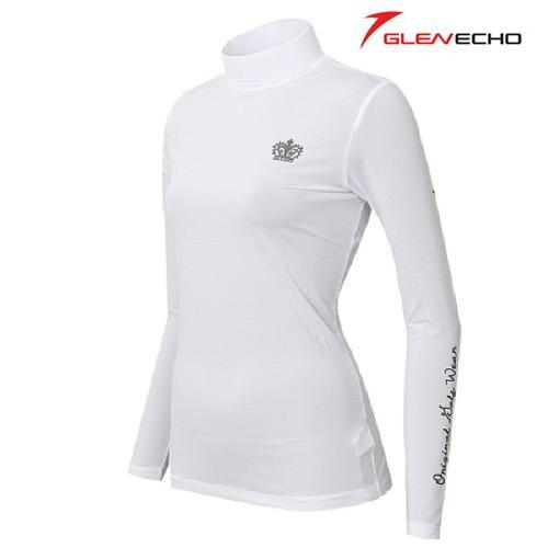 그렌에코 GLENECHO 여성 스판 냉감티셔츠(GES9406W_WH