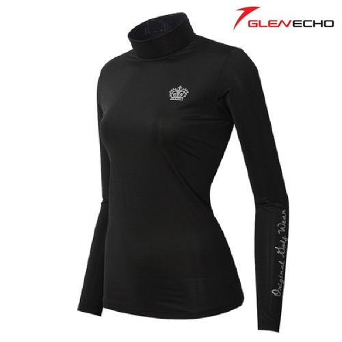 그렌에코 GLENECHO 여성 스판 냉감티셔츠(GES9406W_BK