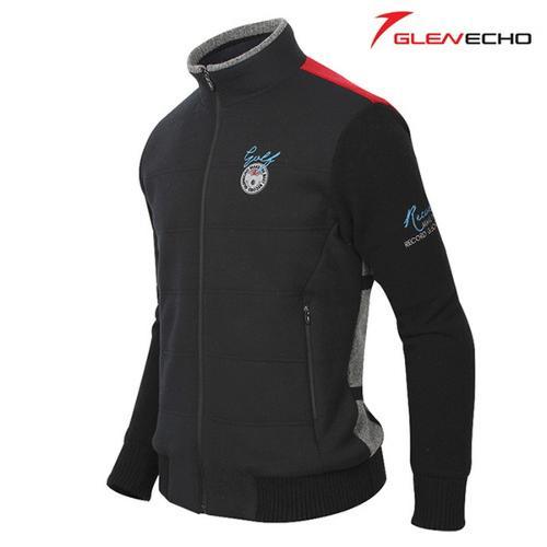 그렌에코 GLENECHO 남성 방풍니트 스웨터(GES9308_BK)