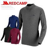 [레드캠프] 극세사 기모 하프넥 스판티셔츠 4종택1