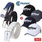 1+1 [클리브랜드골프] 자동조절/플렉서블 골프벨트 + 골프모자/골프용품_CG249003