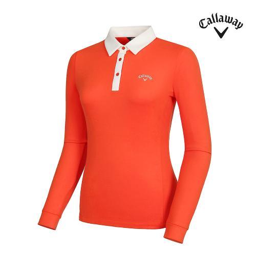 [캘러웨이]여성 카라 배색 티셔츠 CWTYG8101-301_G