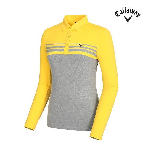 [캘러웨이]여성 컬러 배색 카라 티셔츠 CWTYH7103-203_G